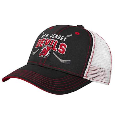 (Adidas Core Lockup Meshback Adjustable Hat - New Jersey Devils - Youth)