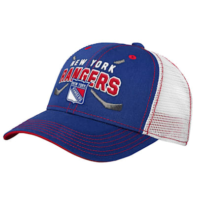 (Outerstuff Core Lockup Meshback Adjustable Hat - New York Rangers - Youth)