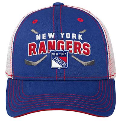 (Adidas Core Lockup Meshback Adjustable Hat - New York Rangers - Youth)