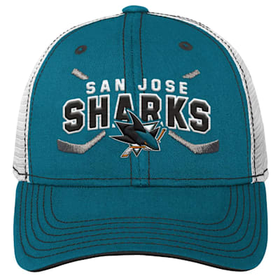 (Outerstuff Core Lockup Meshback Adjustable Hat - San Jose Sharks - Youth)