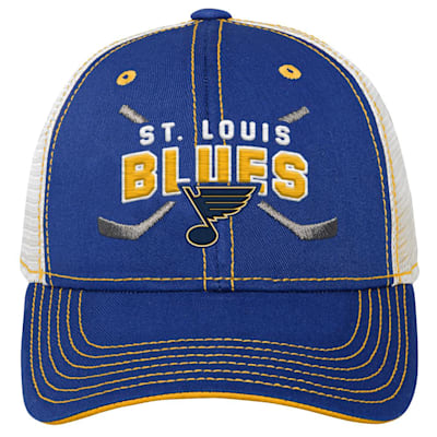 (Adidas Core Lockup Meshback Adjustable Hat - St. Louis Blues - Youth)