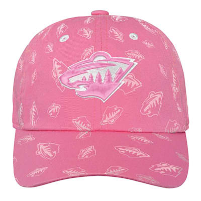 (Outerstuff Pink Fashion Slouch Adjustable Hat - Minnesota Wild - Youth)