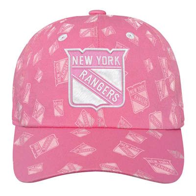 (Outerstuff Pink Fashion Slouch Adjustable Hat - New York Rangers - Youth)
