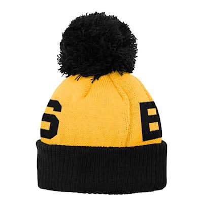 (Outerstuff Jacquard Cuff Pom Knit – Boston Bruins - Youth)