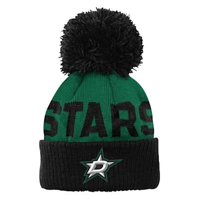(Outerstuff Jacquard Cuff Pom Knit – Dallas Stars - Youth)