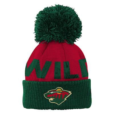 (Adidas Jacquard Cuff Pom Knit – Minnesota Wild - Youth)
