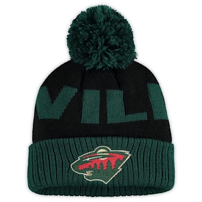 (Outerstuff Jacquard Cuff Pom Knit – Minnesota Wild - Youth)