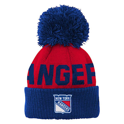 (Outerstuff Jacquard Cuff Pom Knit – New York Rangers - Youth)