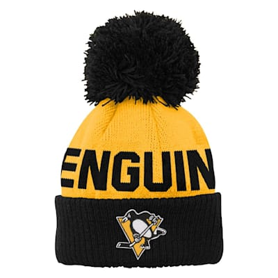 (Outerstuff Jacquard Cuff Pom Knit – Pittsburgh Penguins - Youth)