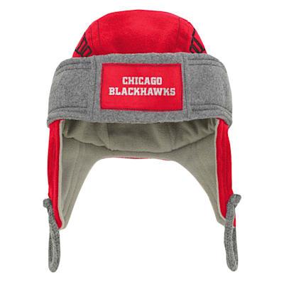 (Outerstuff Kids Fleece Hockey Helmet – Chicago Blackhawks - Youth)