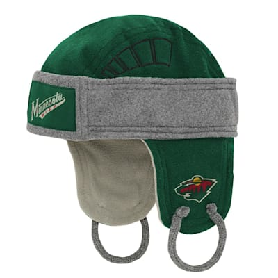 (Adidas Kids Fleece Hockey Helmet – Minnesota Wild - Youth)