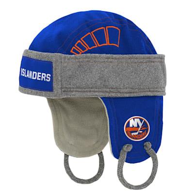 (Outerstuff Kids Fleece Hockey Helmet – New York Islanders - Youth)