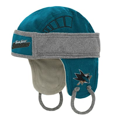 (Adidas Kids Fleece Hockey Helmet – San Jose Sharks - Youth)