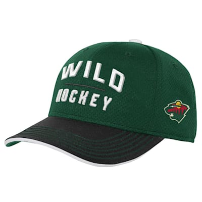 (Outerstuff Breakaway Structured Adjustable Hat – Minnesota Wild - Youth)