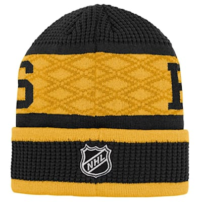 (Outerstuff Puck Pattern Cuffed Knit - Boston Bruins - Youth)