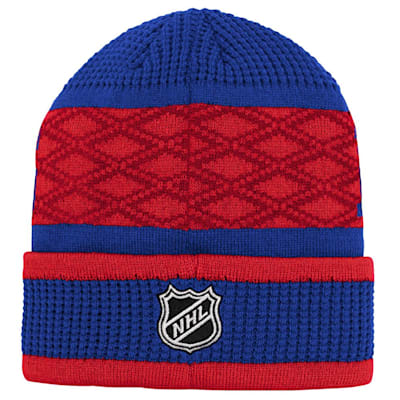 (Outerstuff Puck Pattern Cuffed Knit - New York Rangers - Youth)