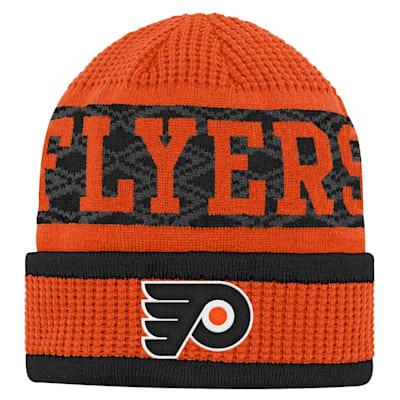 (Outerstuff Puck Pattern Cuffed Knit - Philadelphia Flyers - Youth)