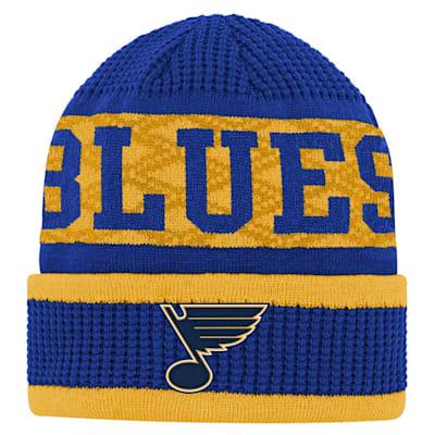 (Outerstuff Puck Pattern Cuffed Knit - St. Louis Blues - Youth)