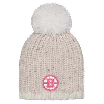 (Outerstuff Pink Nep Yarn Beanie - Boston Bruins - Youth)