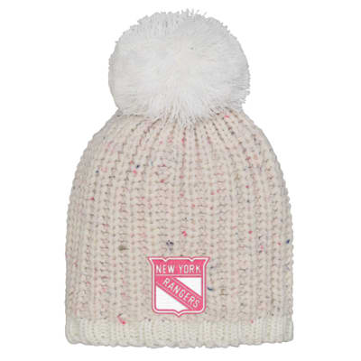 (Outerstuff Pink Nep Yarn Beanie - New York Rangers - Youth)