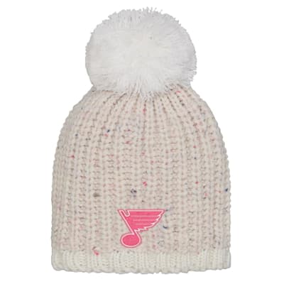 (Outerstuff Pink Nep Yarn Beanie - St. Louis Blues - Youth)