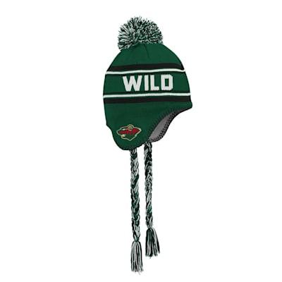 (Outerstuff Jacquard Tassel Knit With Pom - Minnesota Wild - Youth)
