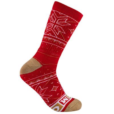 (CCM Holiday Crew Socks - Adult)