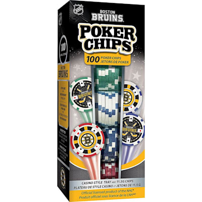 (MasterPieces 100 Pack Poker Chips - Boston Bruins)