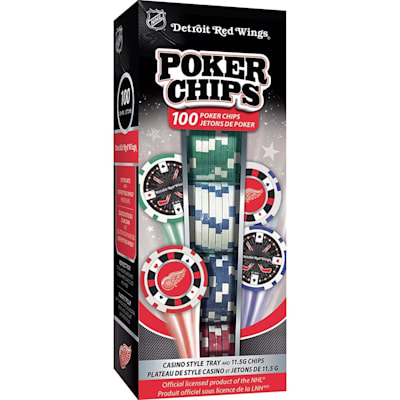 (MasterPieces 100 Pack Poker Chips - Detroit Red Wings)