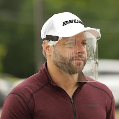 (Bauer Integrated Cap Face Shield)
