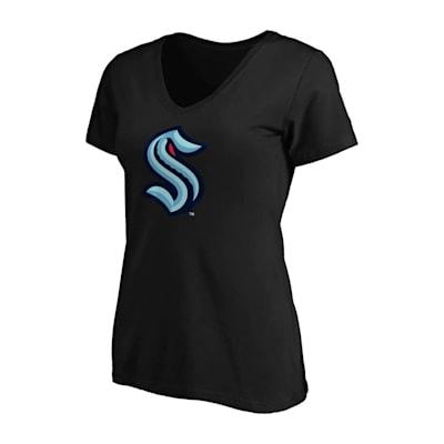 (Fanatics Primary Logo V-Neck T-Shirt - Seattle Kraken - Womens)