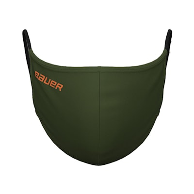 (Bauer Reversible Fabric Face Mask - Green/Camo)