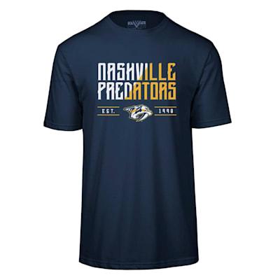 (Levelwear Splitter Richmond Short Sleeve Tee Shirt - Nashville Predators - Adult)