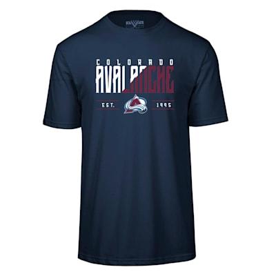 (Levelwear Splitter Richmond Short Sleeve Tee Shirt - Colorado Avalanche - Adult)