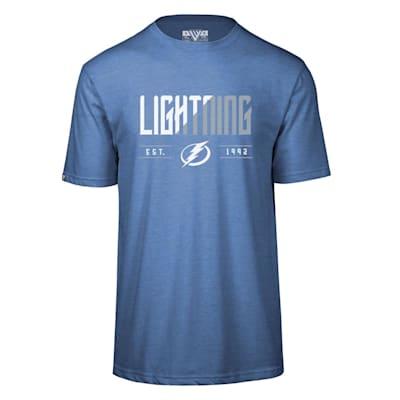 (Levelwear Splitter Richmond Short Sleeve Tee Shirt - Tampa Bay Lightning - Adult)