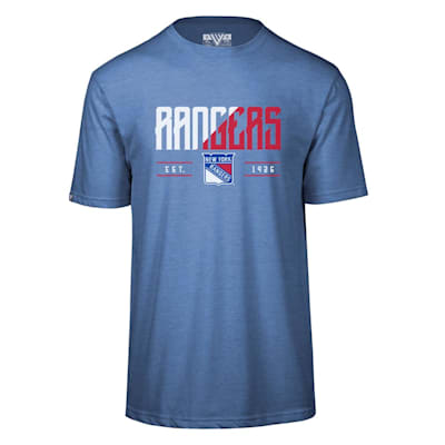 (Levelwear Splitter Richmond Short Sleeve Tee Shirt - New York Rangers - Adult)