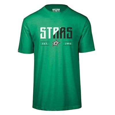 (Levelwear Splitter Richmond Short Sleeve Tee Shirt - Dallas Stars - Adult)