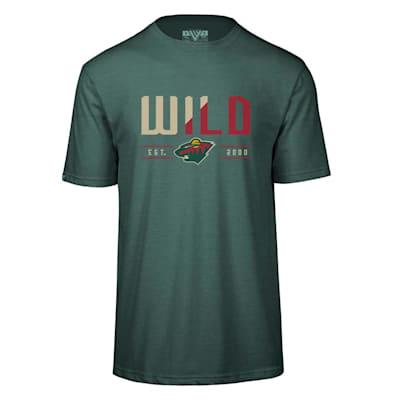 (Levelwear Splitter Richmond Short Sleeve Tee Shirt - Minnesota Wild - Adult)