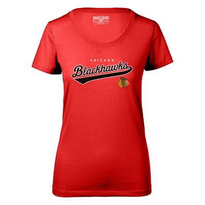 (Levelwear Tail Sweep Daily Short Sleeve Tee Shirt - Chicago Blackhawks - Womens)