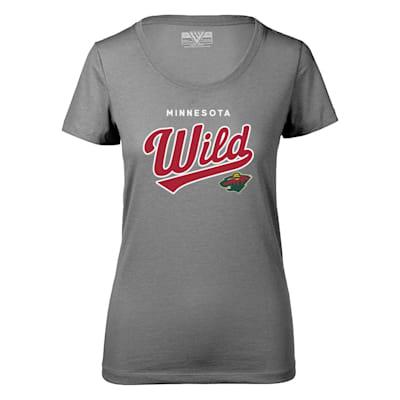 (Levelwear Tail Sweep Daily Short Sleeve Tee Shirt - Minnesota Wild - Womens)