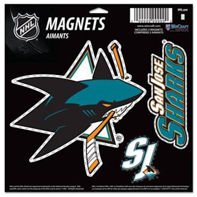 (Wincraft 3 Pack Magnet - San Jose Sharks)