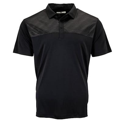 (Pure Hockey Sticks Geo Golf Polo - Black - Adult)