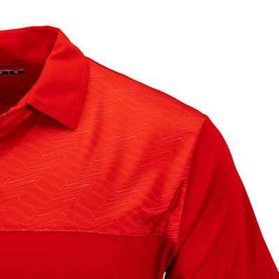 (Pure Hockey Sticks Geo Golf Polo - Red - Adult)