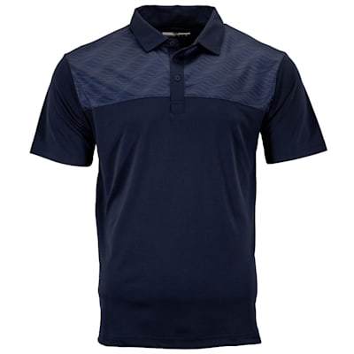 (Pure Hockey Sticks Geo Golf Polo - Navy - Adult)