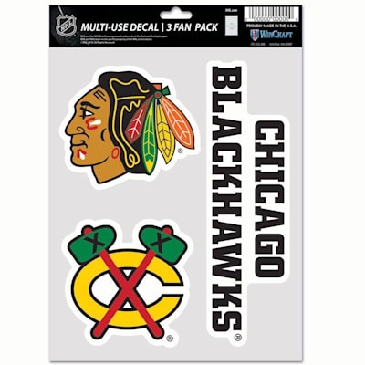 (Wincraft Multi-Use Decal Pack - Chicago Blackhawks)