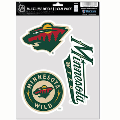 (Wincraft Multi-Use Decal Pack - Minnesota Wild)
