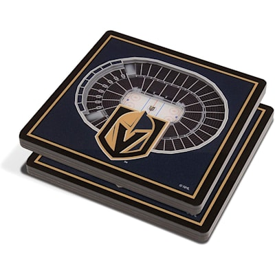 (YouTheFan NHL 3D StadiumView Coaster 2 Pack - Vegas Golden Knights)