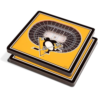 (YouTheFan NHL 3D StadiumView Coaster 2 Pack - Pittsburgh Penguins)
