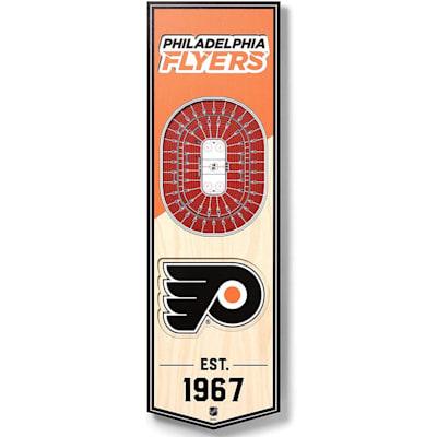 (YouTheFan NHL 3D Stadium Banner 6x19 - Philadelphia Flyers)