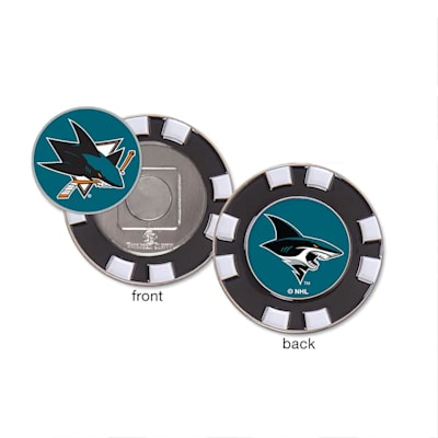 (Wincraft Poker Chip Ball Marker - San Jose Sharks)